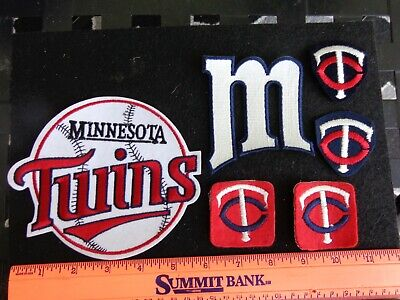 Vintage Minnesota Twins Cooperstown Patches 6 Pc. Lot  Old School Logos RARE !!