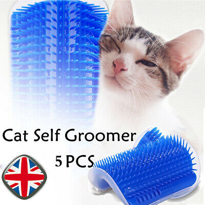 5PCS Pet Cat Self Groomer Brush Wall Corner Grooming Massage Comb Bristles Toy