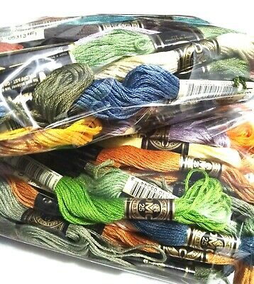 DMC Embroidery Thread Floss LOT 100 Skeins - Variety of Colors