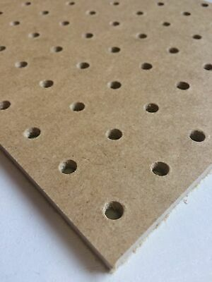 6mm Wooden Pegboard 600MM X 600MM with fixing kit included