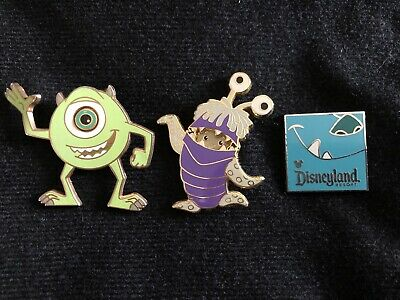 Lot Of 3~Disney Pins- Monsters, Inc - Boo in Costume , Mike, & Sulley