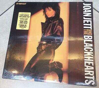 """JOAN JETT & THE BLACKHEARTS """"Up Your Alley"""" Original SEALED 1988 CBS HYPE Sticke"""