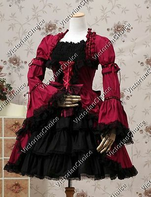 Victorian Gothic Renaissance Lolita Dress Cosplay Theater Steampunk Clothing 233
