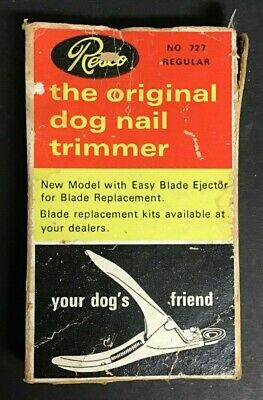 "Carrie Fisher Estate: Old Vintage Resco Dog Pet Nail Trimmer In Original 5"" Box"