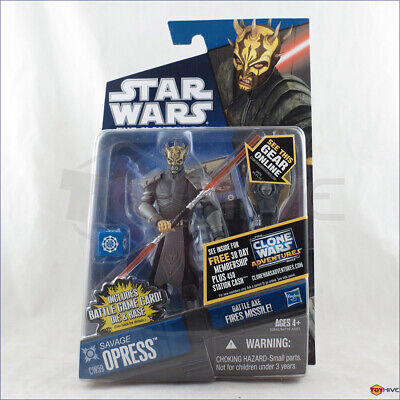 Star Wars Clone Wars 2011 Savage Opress armored CW59 action figure & battle card