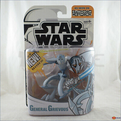 Star Wars Clone Wars animated General Grievous Cartoon Network action figure