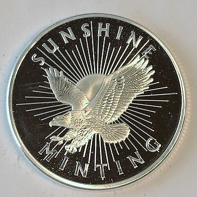 SALE!! Lot of 5 1 oz  Sunshine Mint Buffalo  999 Silver rounds, BU