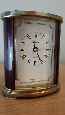 vintage metamec carriage clock battery operated fully working