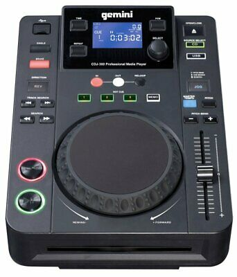 "GEMINI CDJ-300 DJ TT Media Player kompakt_USB_CD_CD-R_MP3_5"" JOG_Anti-Shock_NEU"