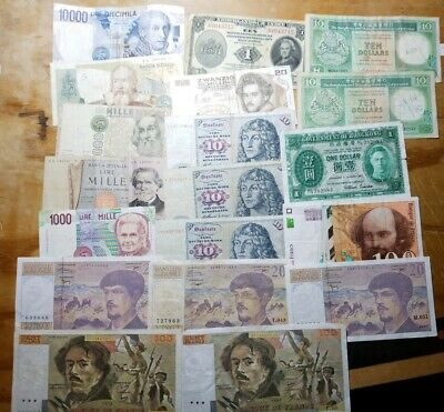 LOT OF 30 Foreign / World Banknotes Currency Mix Of Old