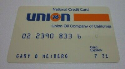 Vintage oil gas station credit card 1971 UNION 76 California Sunoco gasoline old
