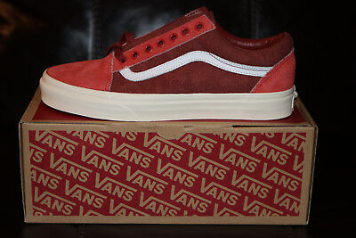 b87b1a7bc5c VANS FOR J.CREW Old Skool Sneakers Shoes Limited Edition Red NEW ...