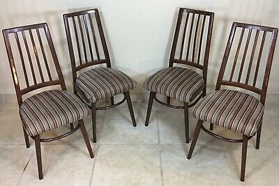 Ligna Chairs Made In Czechoslovakia Mid Century Modern MCM Set Of 4 Chairs Wood