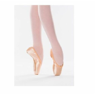 Pink satin Freed Classic Pro 90 pointe shoes - Size 5X Maker heart