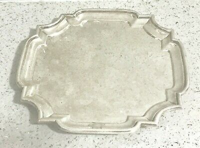 Rare Antique English sterling solid silver card tray ,1898 ,London