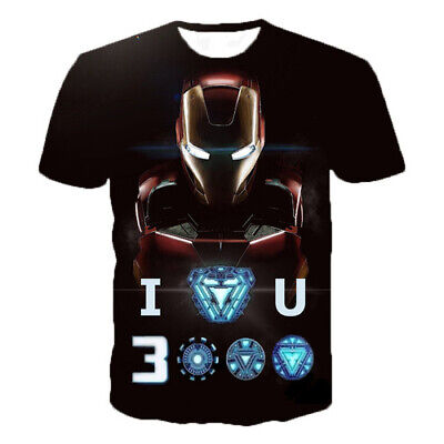 abc5bf85 Marvel Avengers Endgame Iron Man Women Men T-Shirt 3D Print Short Sleeve Tee