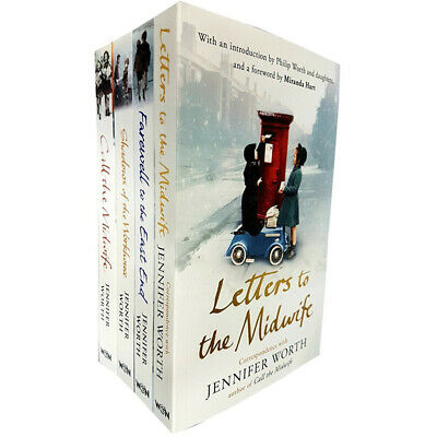 Jennifer Worth 4 Books Collection Set, Letters to the Midwife,Call The Midwife