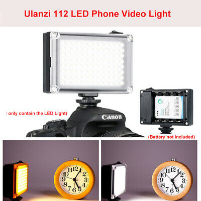 Ulanzi 112 LED Video Light Photographic Lamp Lighting For Camcorder Camera Canon