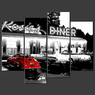Rosie's Diner Retro Cascade Canvas Print Poster Ready To Hang