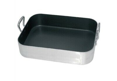 Vogue Non-Stick Roasting Pan in Aluminum with Teflon Coating - 450 x 350 x80 mm