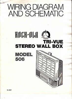 rock-ola tri-vue stereo wall box model 506 wiring diagram and schematic  jukebox