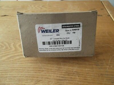 "WEILER 1/2"" CRIMPED WIRE END BRUSH 10015 NEW UNUSED BOX of 10"