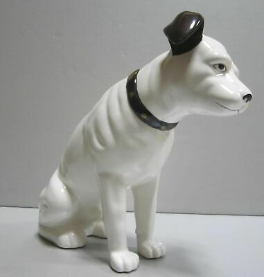 """Nipper Victor Edison dog ceramic 9"""" tall huge coin bank phonograph NOS old stock"""