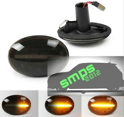 Mini R55 Clubman LED indicators Smoked Dynamic side Repeaters Cooper S 2007-2014