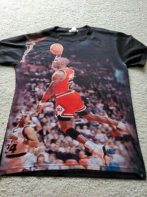 237691433b4 Vintage Michael Jordan Signature Dunk T-Shirt pre owned print all over