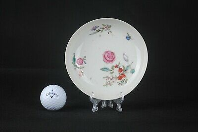 18th C. Chinese Antique Yongzheng - Qianlong Famille Rose Flower Pattern Dish