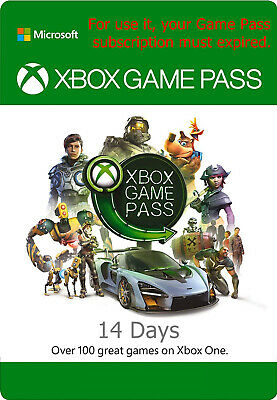 Xbox Game Pass 14 Days Membership Code key for Xbox One & win 10