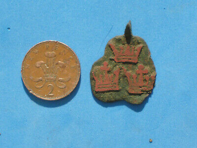 Heraldric Hanging Pendent Mount Bishop Of Ely 3 Red Crowns Metal Detecting