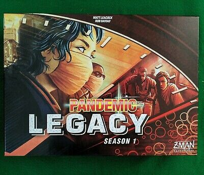 Pandemic Legacy Season 1 Red Edition Z-Man Games - Never Played