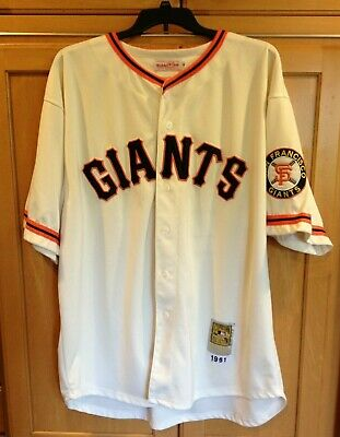788c2ad2 Mitchell & Ness Willie Mays San Francisco Giants Baseball Jersey  Cooperstown 58
