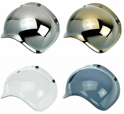 9749b0e2 BUBBLE SHIELD for Biltwell Gringo Bonanza Mirror Gold Chrome Smoke Tinted  Visor