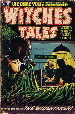 WITCHES TALES #24 (Harvey) Lee Elias GHOUL-cover.  RARE Pre-Code Horror 1954!