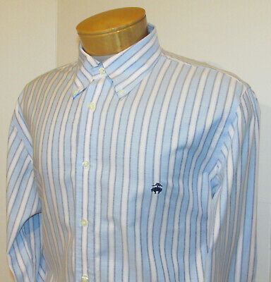 ade91a51 BROOKS BROTHERS Button Down Shirt | Mens Large Regent Slim Fit Supima  Non-Iron