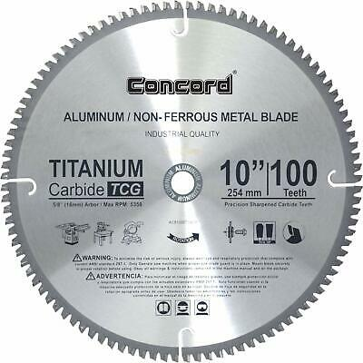 "Circular Saw Blades Aluminum Non-Ferrous Metal Home Improvement 10"" 100 Teeth ."