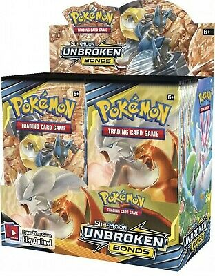 Pokemon Sun and Moon Booster Unbroken Bonds Pack-1x Booster Pack! SHIPS SAME DAY