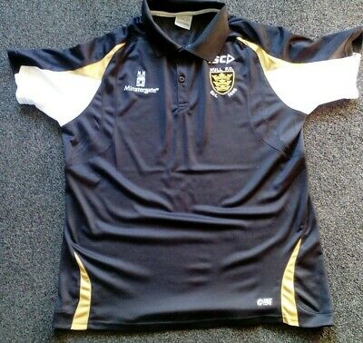 10331fae385 Isc Hull Fc Mens (Or Ladies) Rugby League Black Polo Shirt Size Xl Great