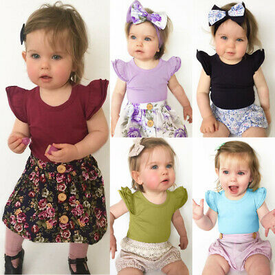 Toddler Kids Baby Girl Cotton Romper Bodysuit Outfits Jumpsuit Playsuit Clothes