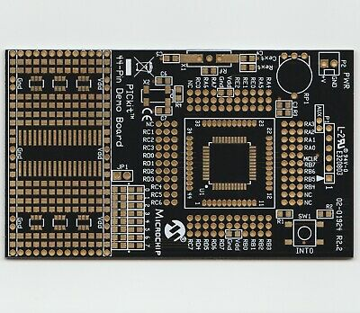 Microchip PicKIT3  44-pin Demo Board DM164120-2 - Blank PCB  for PIC18F&16F TQFP