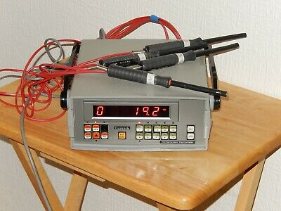COMARK ZC6600 thermometer with 4 x RS 158-525 K type thermocouple probes ZC 6600
