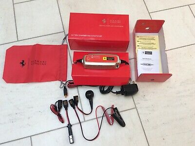 Ferrari Universal Battery Conditioner Trickle Charger EU & UK *NEW IN BOX*