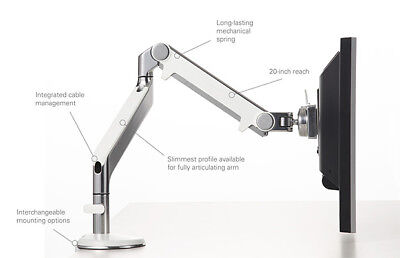 Humanscale M2 Monitor Arm Desk Clamp (Slide Clamp) C Clamp Bracket