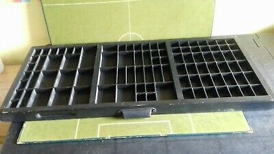 Vintage Wooden Printers Tray Brass Corners Letterpress Collector Graphics Crafts