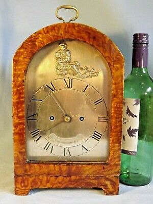 Burr Oak Twin Fusee Bracket Clock.