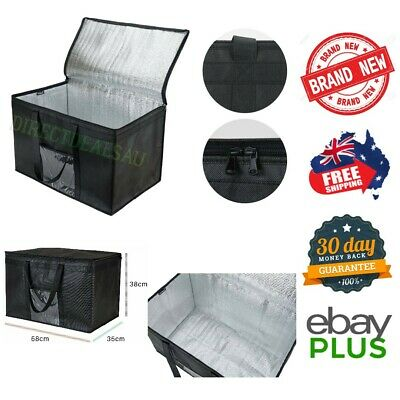 Extra Large 58cm Insulated Food Delivery Takeaway Bag Dual Zipper NEW