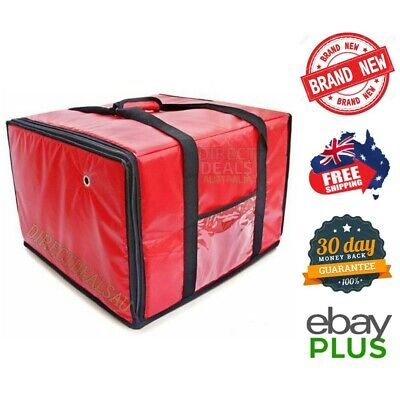 """Insulated Pizza Food Delivery Bag Red 18"""" x 18"""" x 13"""" with Zipper NEW"""