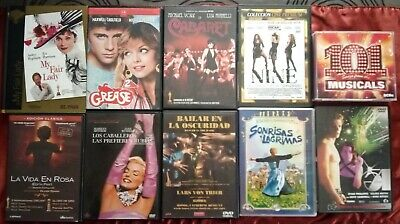 Lote Dvds Musicales + 5 Cds